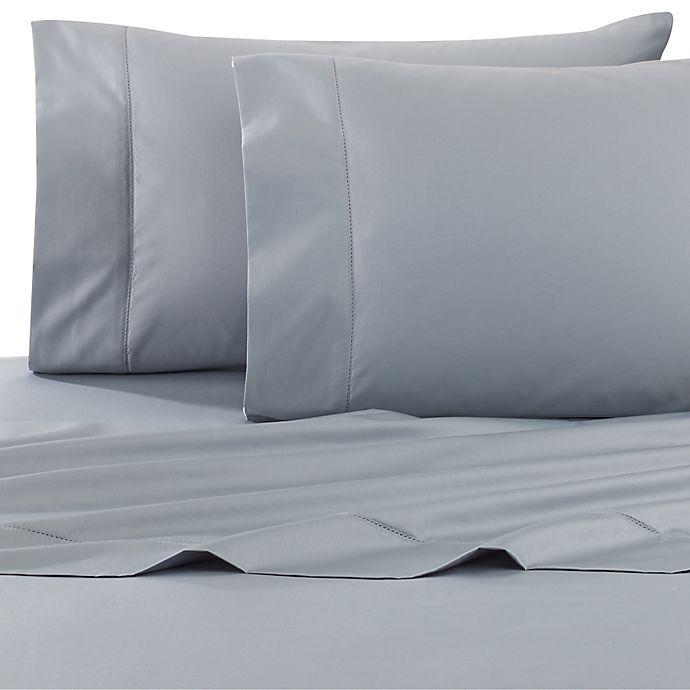 Alternate image 1 for Wamsutta® Dream Zone® PimaCott® 750-Thread-Count Queen Sheet Set in Aqua