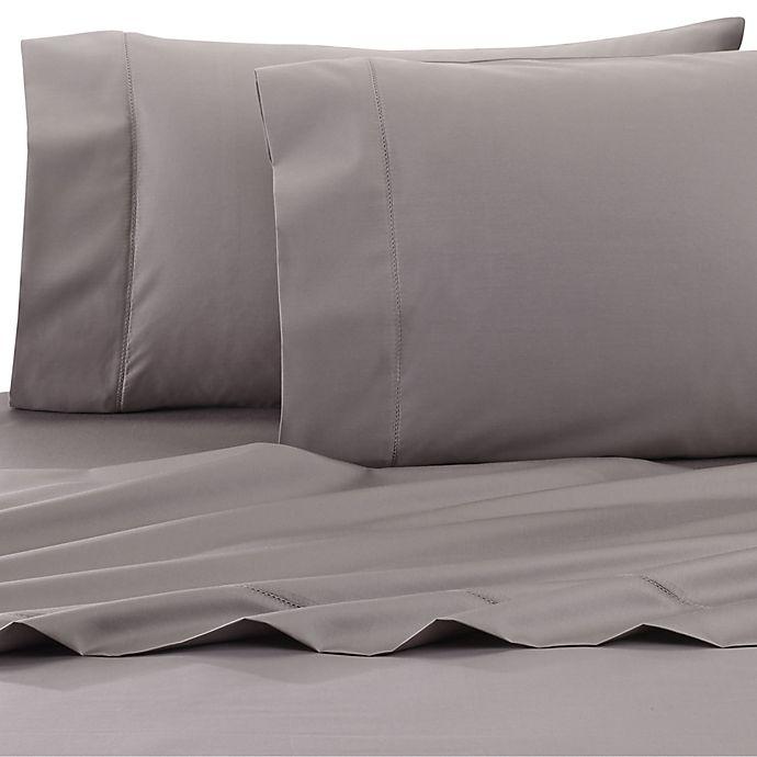 Alternate image 1 for Wamsutta® Dream Zone® PimaCott® 750-Thread-Count Twin XL Sheet Set in Charcoal