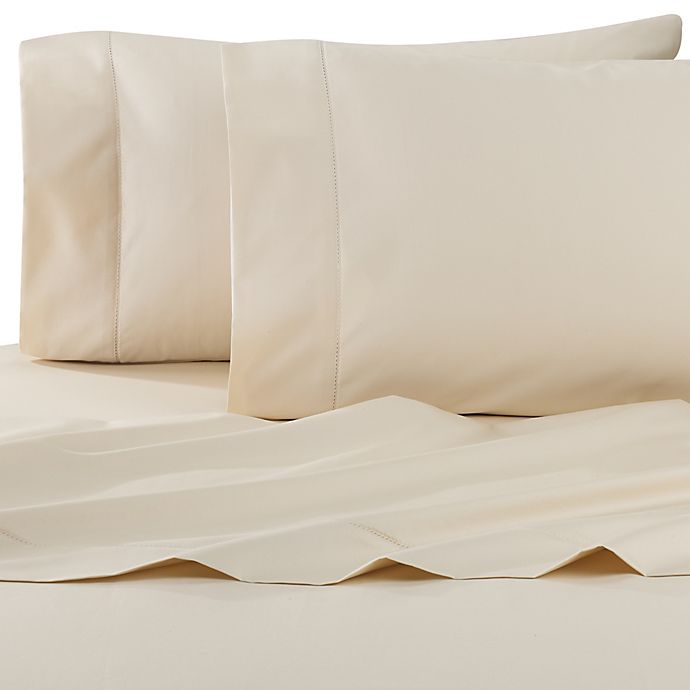 Alternate image 1 for Wamsutta® Dream Zone® PimaCott® 750-Thread-Count Twin XL Sheet Set in Ivory