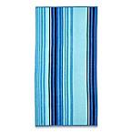 Cool Stripe Beach Towel in Blue