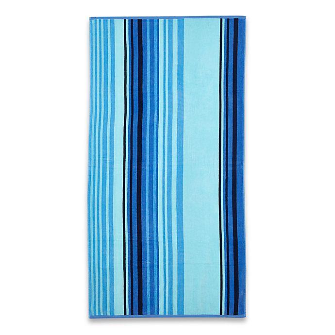 Cool Stripe Beach Towel In Blue Bed Bath Beyond