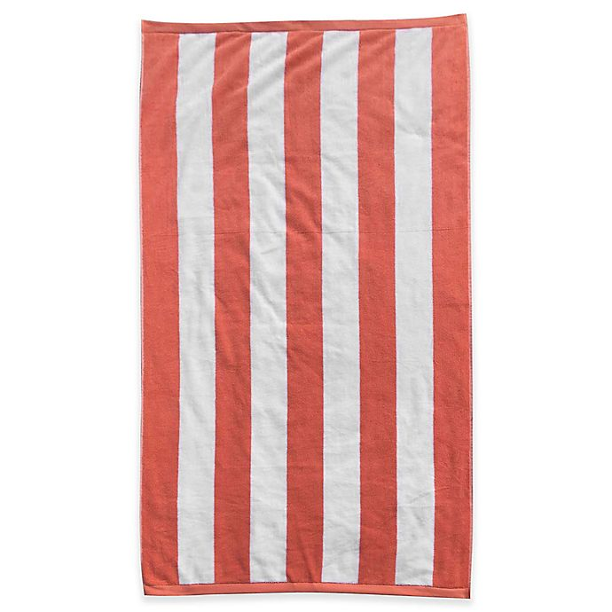 Alternate image 1 for Resort Stripe Beach Towel in Coral