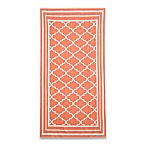 Fretwork Beach Towel in Coral