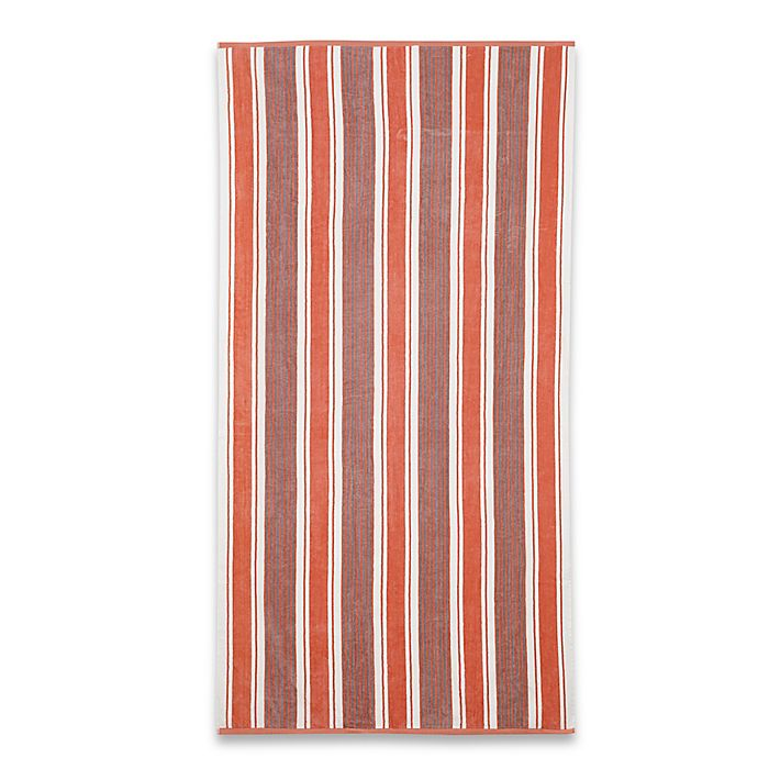 Alternate image 1 for Stripe Beach Towel in Coral