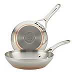 Anolon® Nouvelle Copper Stainless Steel French Skillets (Set of 2)