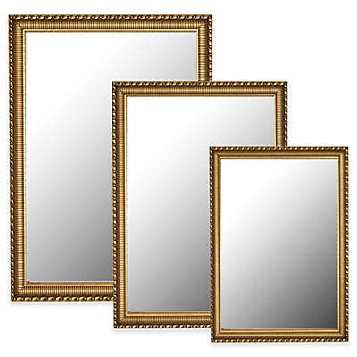 Hitchcock-Butterfield Athenian Ornamented Rectangular Wall Mirror in Gold