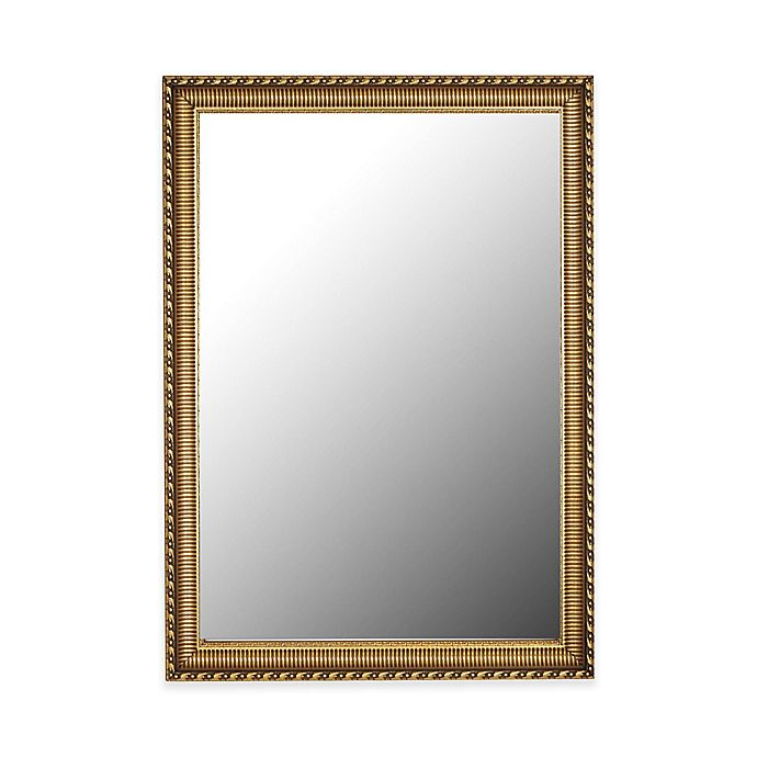Alternate image 1 for Hitchcock-Butterfield Athenian Ornamented 28-Inch x 40-Inch Rectangular Wall Mirror in Gold