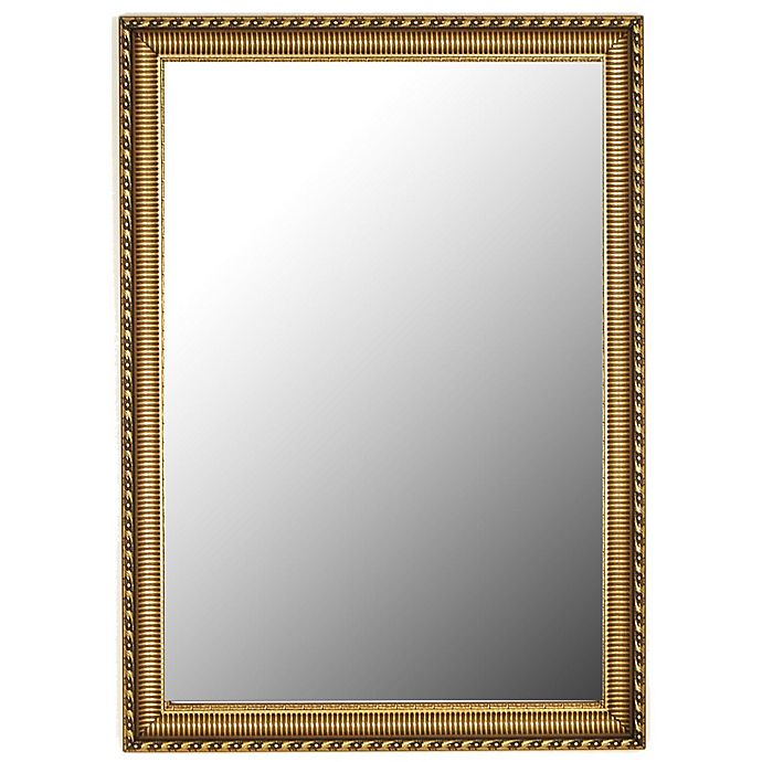 Alternate image 1 for Hitchcock-Butterfield Athenian Ornamented 25-Inch x 35-Inch Rectangular Wall Mirror in Gold