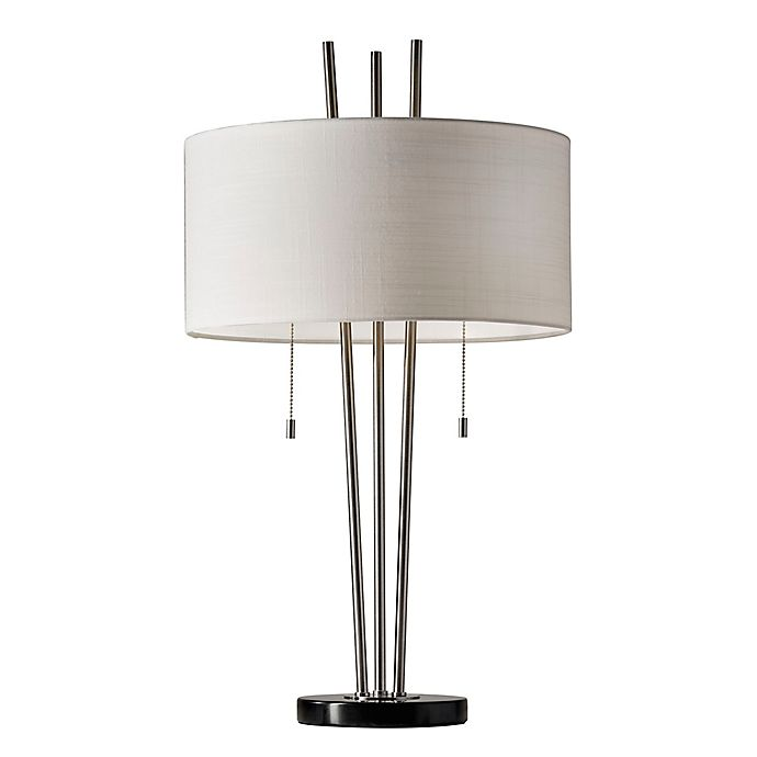 Alternate image 1 for Adesso® Anderson Table Lamp in Brushed Steel