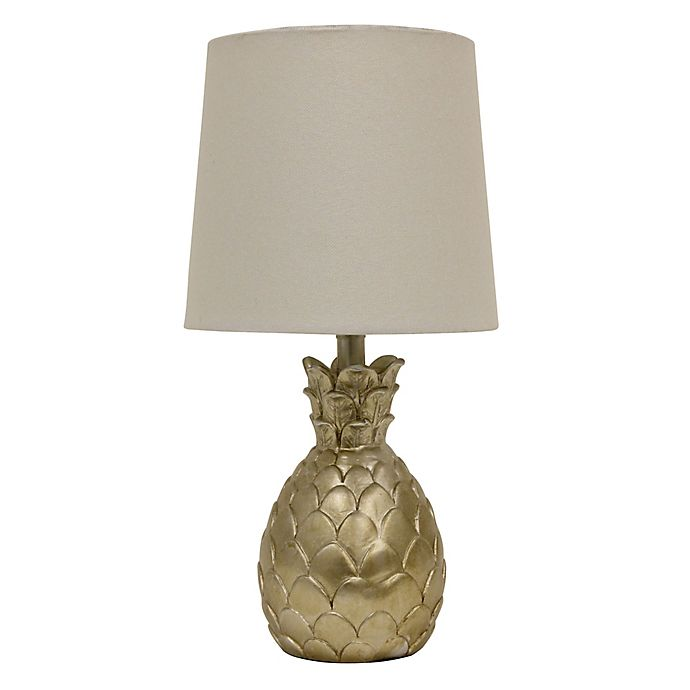 Alternate image 1 for Décor Therapy Pineapple Table Lamp in Silver