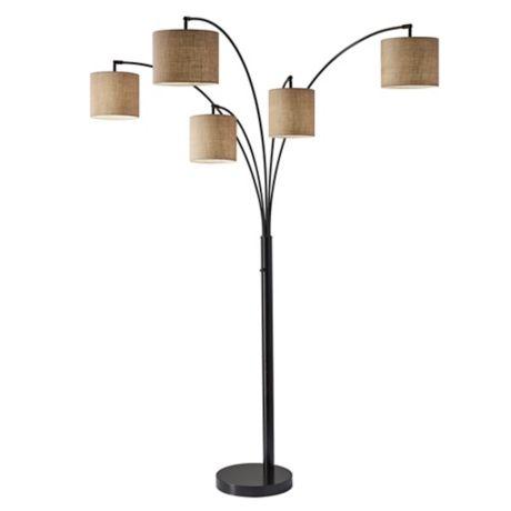 Adesso 174 Trinity 5 Arm Arc Floor Lamp Bed Bath Amp Beyond