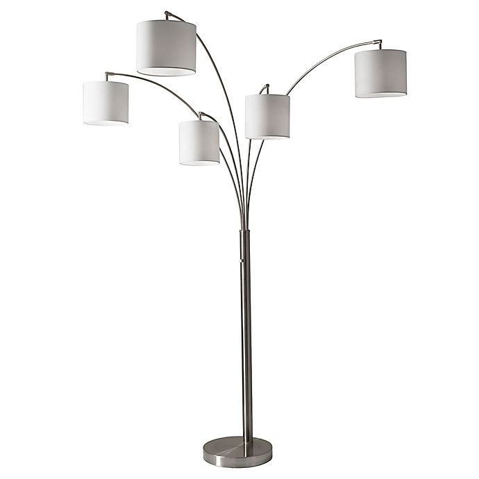 Adesso Trinity 5 Arm Arc Floor Lamp