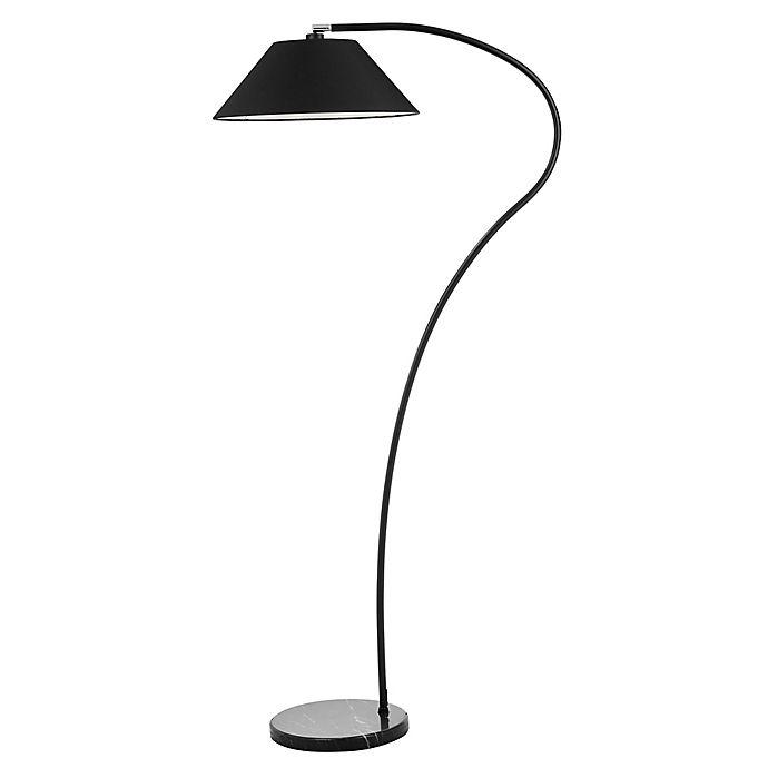 Safavieh Lumi Arc Cfl Floor Lamp In Black Bed Bath Amp Beyond