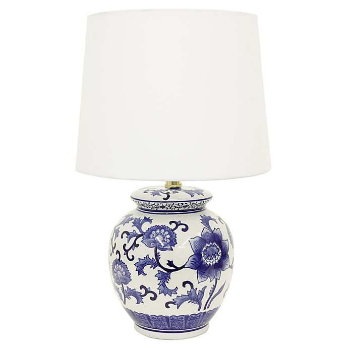 Jimco Ceramic Table Lamp In Blue White Bed Bath Beyond