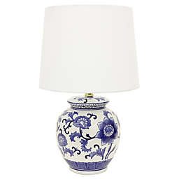 Jimco Ceramic Table Lamp in Blue/White