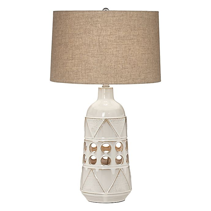 Pacific Coast Tribal Geo Ceramic Table Lamp