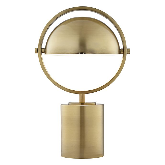 Alternate image 1 for Pacific Coast® Lighting Metal Table Lamp in Antique Brass with Metal Dome Shade