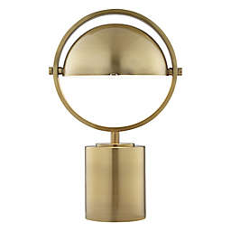 Pacific Coast® Lighting Metal Table Lamp in Antique Brass with Metal Dome Shade