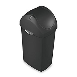 simplehuman® Plastic Swing Lid 60-Liter Trash Can