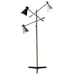 Adesso® Lyle 3-Arm Floor Lamp in Antique Brass