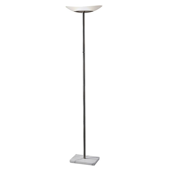 Alternate image 1 for Adesso® Celeste LED Torchiere Floor Lamp in Brushed Steel