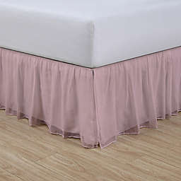 Cotton Voile 15-Inch King Bed Skirt in Blush