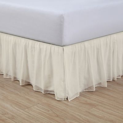 Cotton Voile 15 Inch Bed Skirt Bed Bath And Beyond Canada