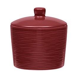 Noritake® Red on Red Swirl Covered Sugar Bowl