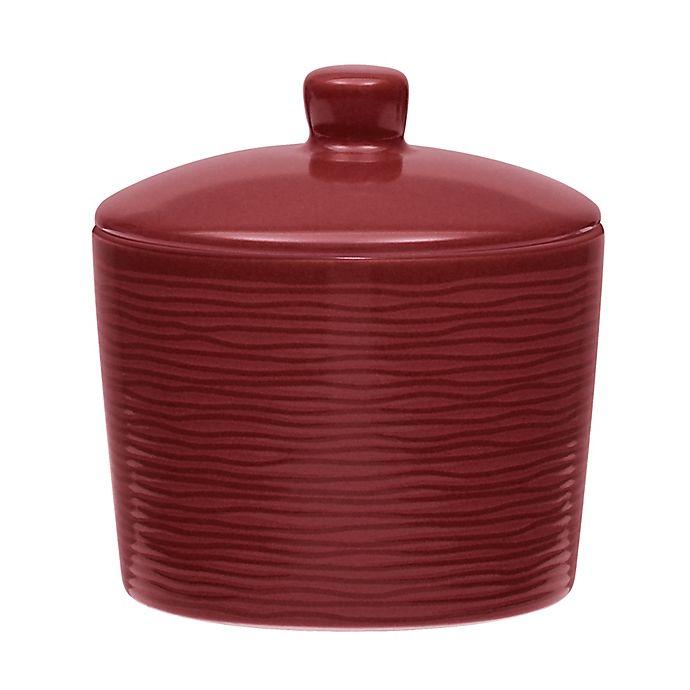 Alternate image 1 for Noritake® Red on Red Swirl Covered Sugar Bowl