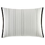 Vera Wang™ Home Dragonfly Wing Striped Oblong Throw Pillow in White