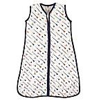 Hudson Baby® Size 0-6M Arrows Muslin Sleeping Bag in White/Navy