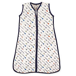 Hudson Baby® Arrows Muslin Sleeping Bag in White/Navy