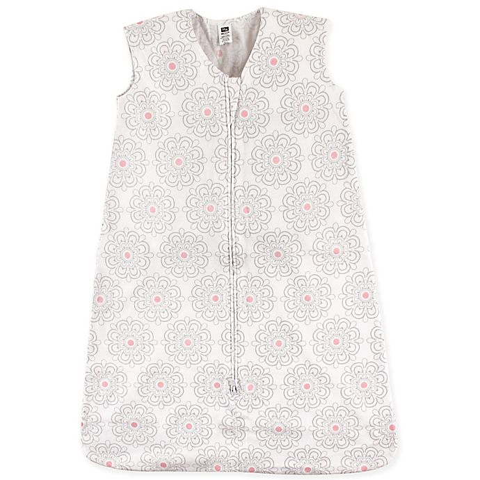 Alternate image 1 for Hudson Baby® Size 0-6M Floral Sleeping Bag in Grey/Pink