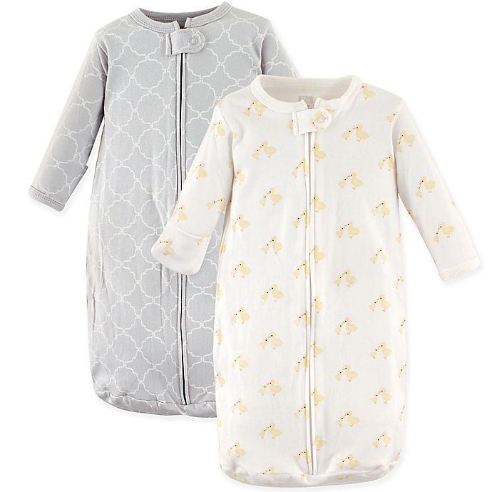 Alternate image 1 for Hudson Baby® 2-Pack Long Sleeve Ducks Sleeping Bag in Yellow/Grey