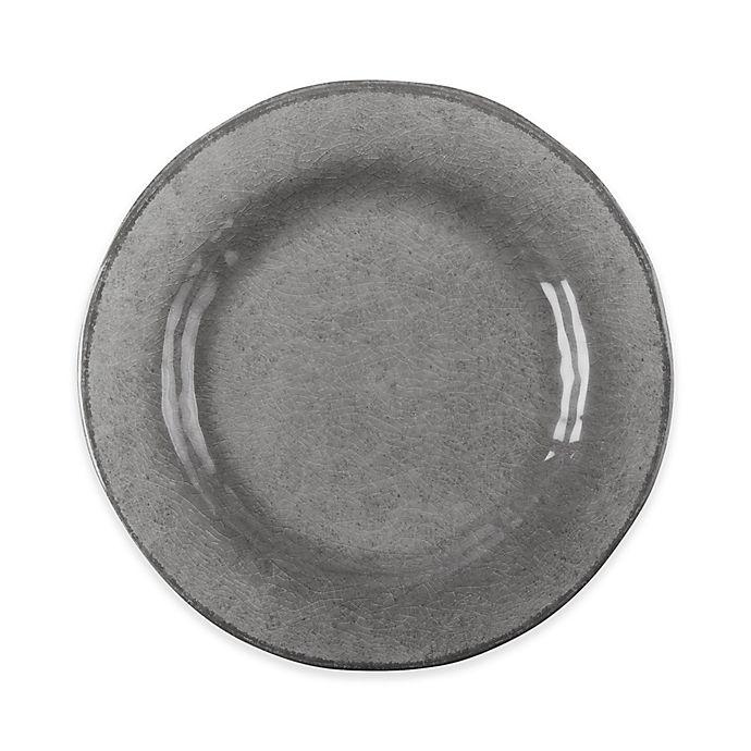 Alternate image 1 for tag Veranda Dinner Plates in Grey (Set of 4)