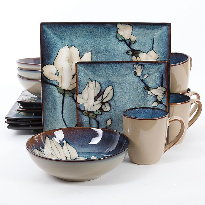 Alternate image 1 for Gibson Elite Bloomsbury 16-Piece Dinnerware Set