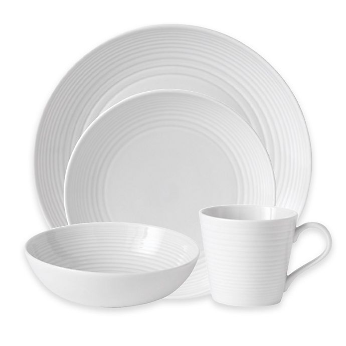 Alternate image 1 for Gordon Ramsay by Royal Doulton® Maze 16-Piece Dinnerware Set in White