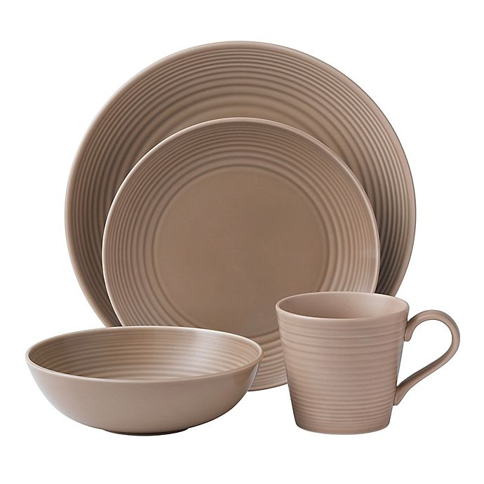 Gordon Ramsay By Royal Doulton Maze 16 Piece Dinnerware Set In Taupe Bed Bath Beyond