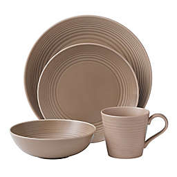 Gordon Ramsay by Royal Doulton® Maze 16-Piece Dinnerware Set in Taupe