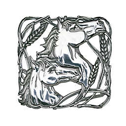 Arthur Court Designs Equestrian Horse Wheat Trivet in Silver