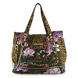 47f777d69836 Ed Hardy Zip Bottom Diaper Tote Bag by Christian Audigier® - Olive