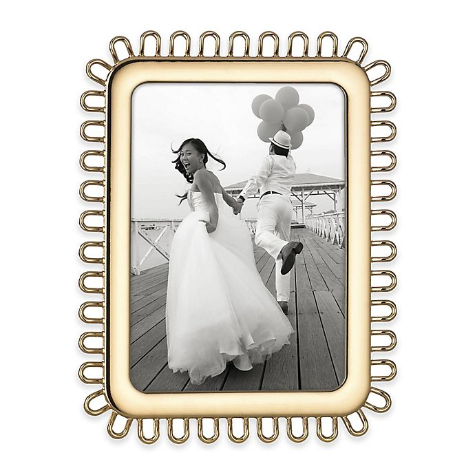 Alternate image 1 for kate spade new york Keaton Street™ 5-Inch x 7-Inch Picture Frame in Gold
