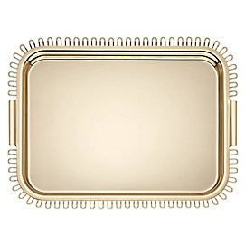 kate spade new york Keaton Street™ 19.25-Inch Rectangular Tray in Gold
