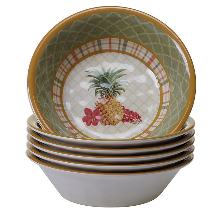 Alternate image 1 for Certified International Floridian All Purpose Bowls (Set of 6)
