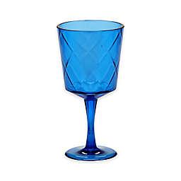 Certified International Diamond Goblets in Cobalt Blue (Set of 8)