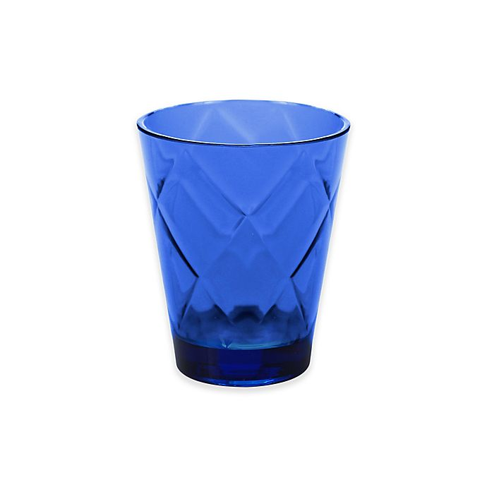 Alternate image 1 for Certified International Diamond Double Old Fashioned Glasses in Cobalt Blue (Set of 8)