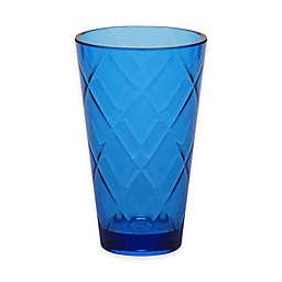 Certified International Diamond Iced Tea Glasses in Cobalt Blue (Set of 8)