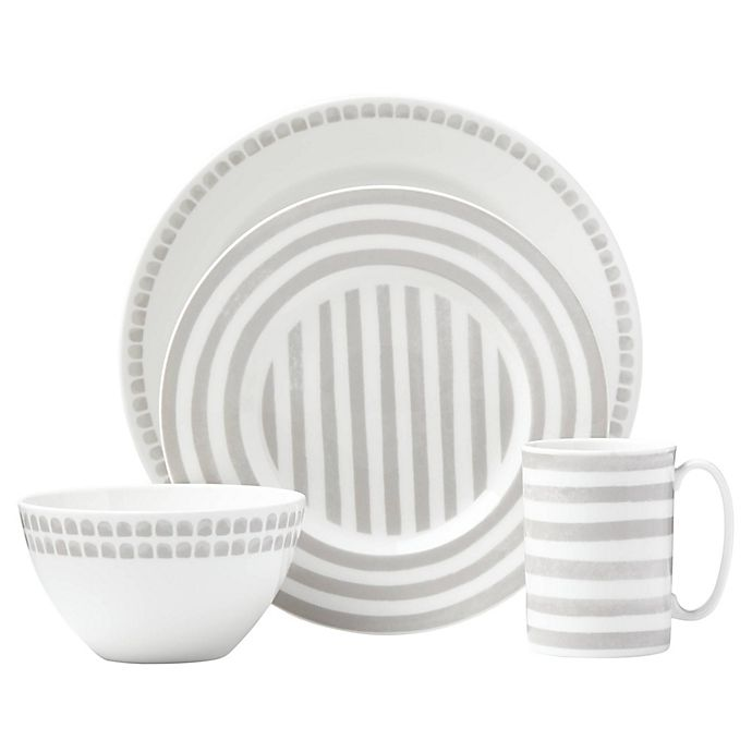 Alternate image 1 for kate spade new york Charlotte Street™ North Dinnerware Collection in Grey