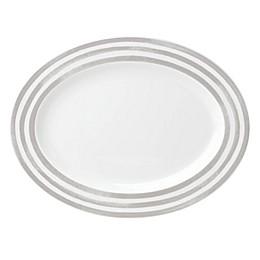 kate spade new york Charlotte Street™ 16-Inch Oval Platter in Grey