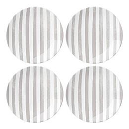 kate spade new york Charlotte Street™ Tidbit Plates in Grey (Set of 4)